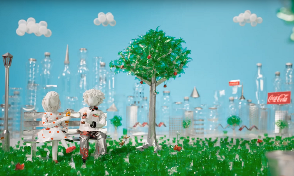 Coca-Cola Promotes Recycling with Stop Motion Video